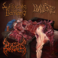 Suffocate Bastard/Divaricate/Visceral Carnage - Mutilated and Split Into Thirds