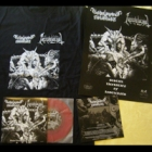"Godslaying Hellblast/Necroholocaust - Bestial Laceration of Angelcunts (Package: EP 7"" Red + Short Sleeved T-Shirt: L)"